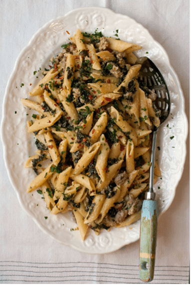 recipes, crave catering, general, austin catering services, catering, pasta recipes, penne pasta, kale recipes, lemon cream sauce