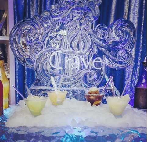 ice sculpture, crave catering, austin catering, catering, vendor spotlight, ice, ice display