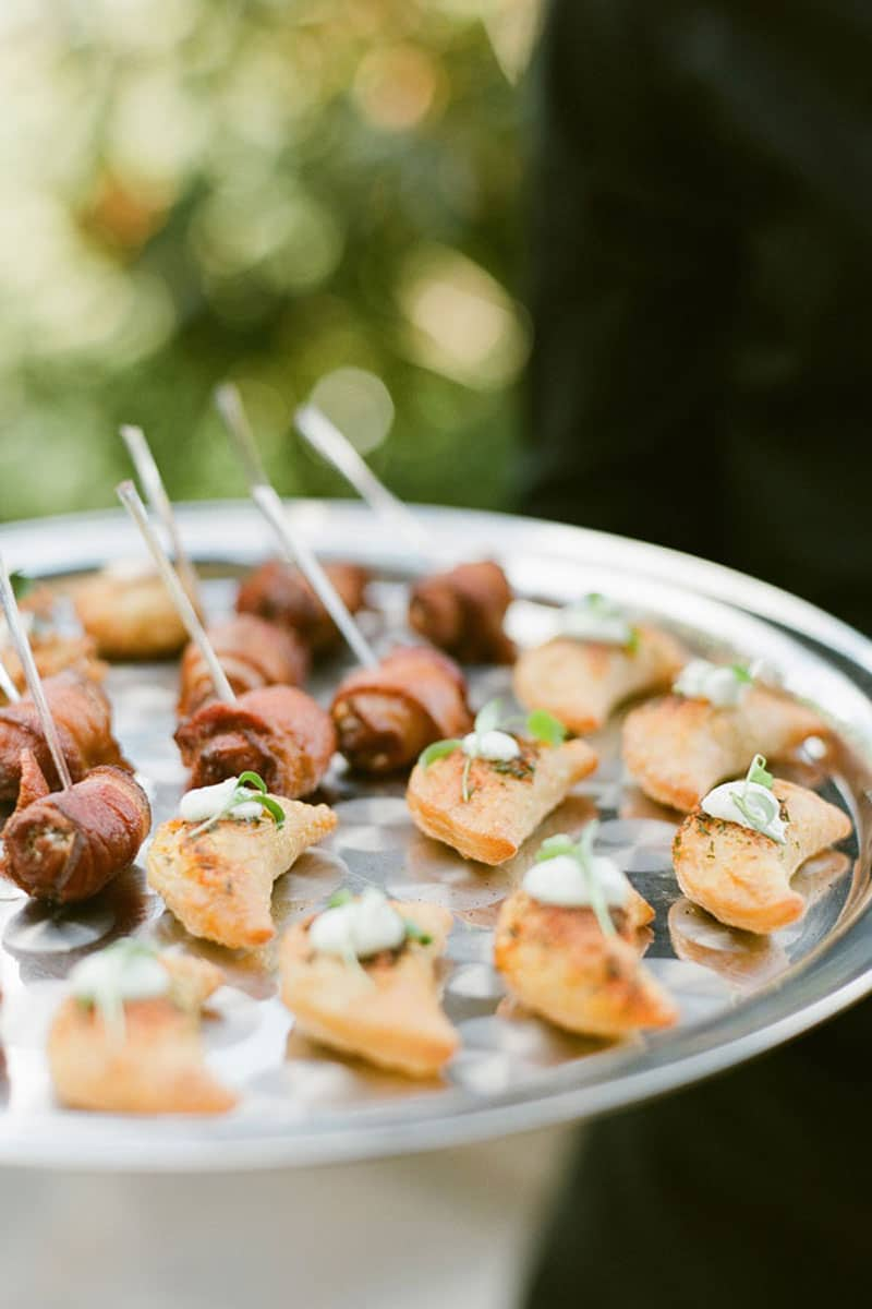 Passed Appetizer at Destination Wedding by Crave Catering