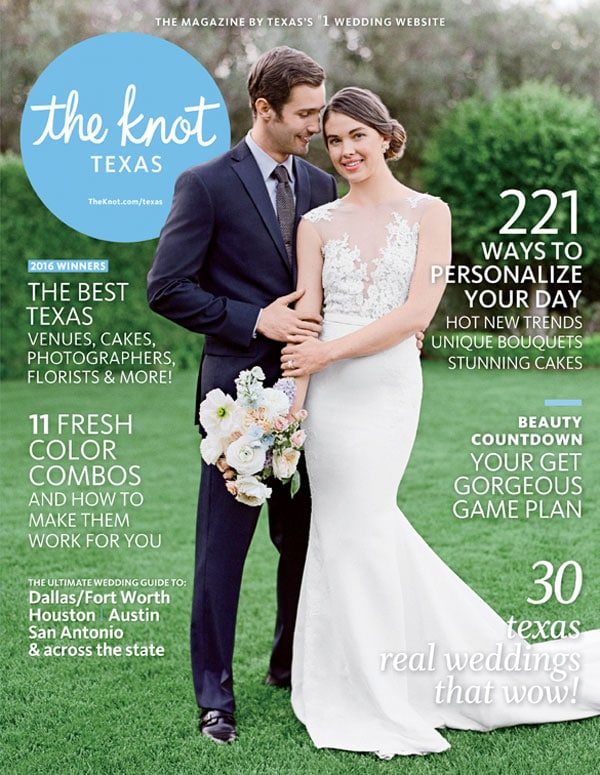 The Knot Texas Cover Featuring Crave Catering