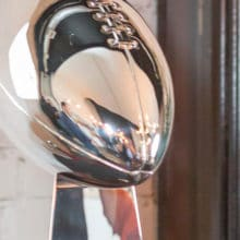 Lombardi trophy at the Visa Everywhere Lounge